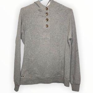 CONVERSE Woman's Grey One Star Hooded Sweatshirt